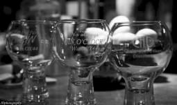 Mother's Ruin Chalgrove Artisan Distillery glasses black white