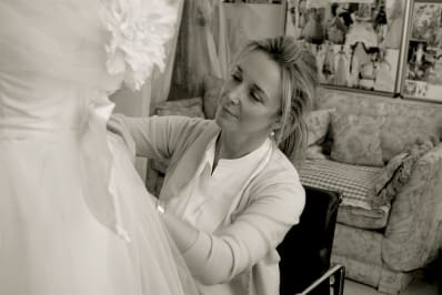 Designer Spotlight Phillipa Lepley fitting
