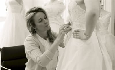 Designer Spotlight Phillipa Lepley fitting bride side