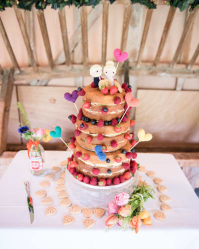 Real Wedding Chris Rachel wedding cake