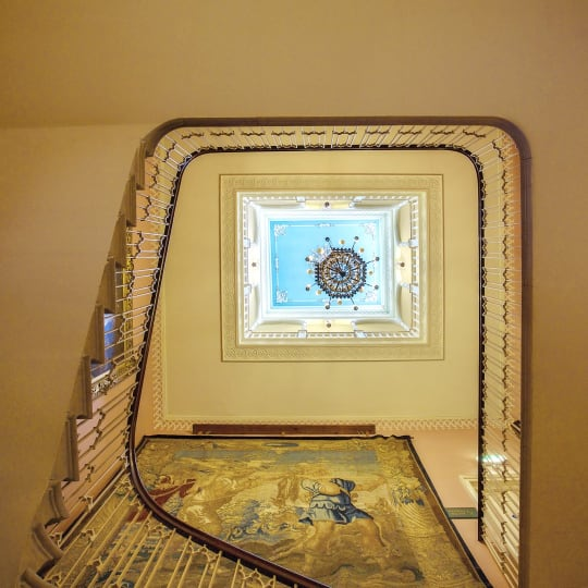 Donnington Grove Country Club Weddings staircase chandalier
