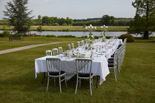 Henley Greenlands outdoor wedding setting