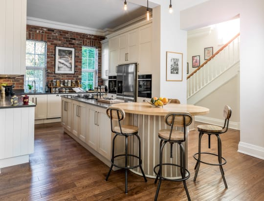 Woodwise Kitchens olive and mahogany