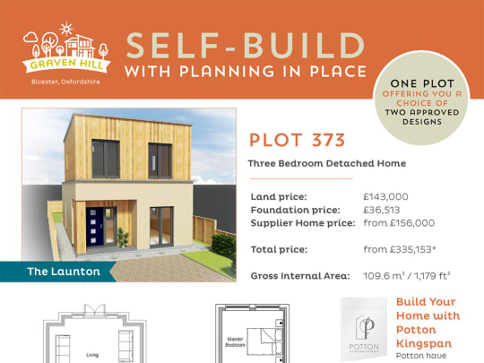 Graven Hill Self Build plot information