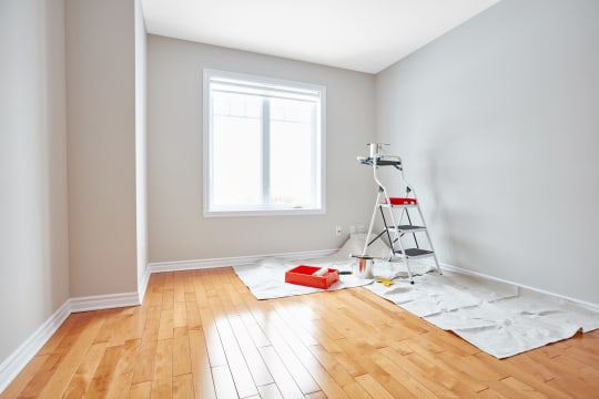 LA Paint Painters Steps and Brushes for Interior Walls