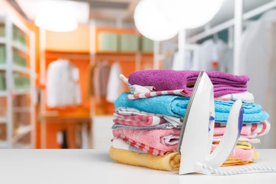 LSA Cleaning Services Iron and Folded Clothes Clean Room