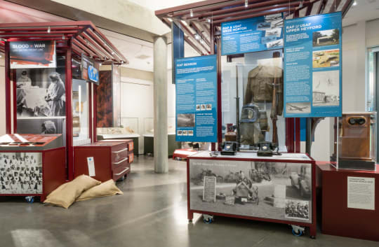 Air Power Exhibit   Blood War Exhibit jajtmg
