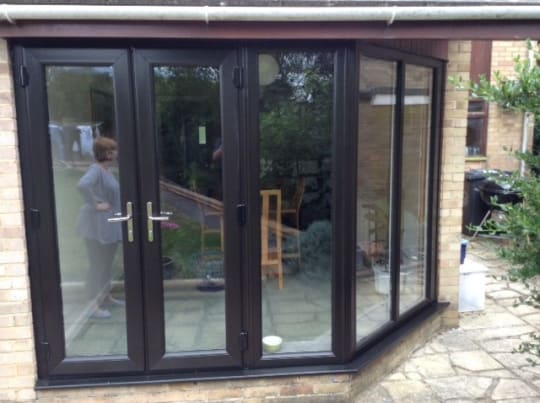 Tropiglaze Brown Patio Doors