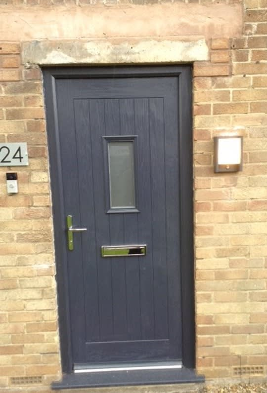 Tropiglaze Dark Grey Panel Door