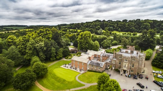 Donnington Grove Country Club Weddings aerial view
