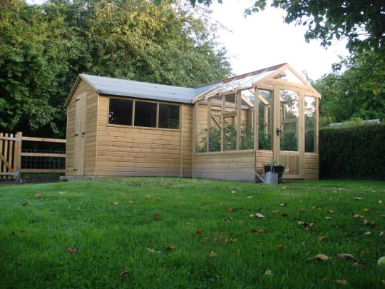 Eynsham shed and conservatory