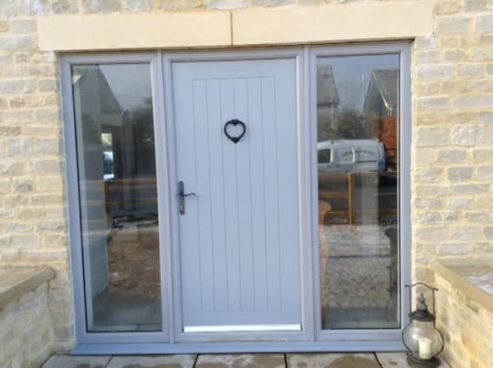 Tropiglaze Grey Door with Windows