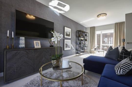 Mosaics Barton Park Living Room Blue and Grey
