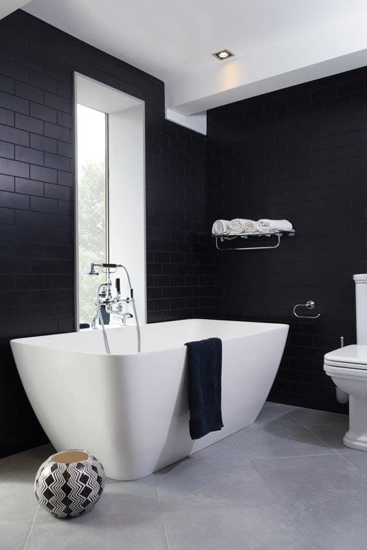 John Nicholls black and white bathroom