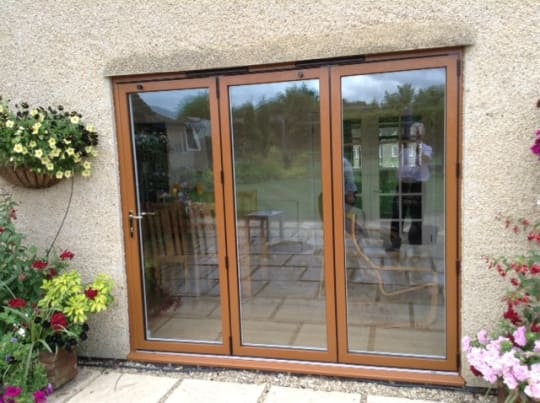 Tropiglaze Light brown patio doors