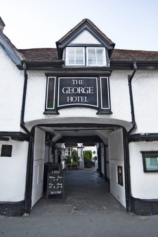 The George Hotel Wallingford Sign over Arch