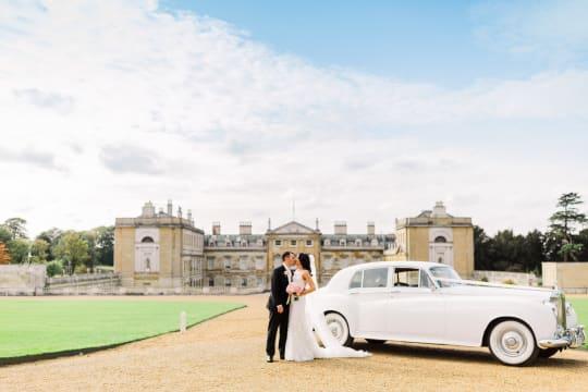 Woburn Abbey Weddings Mr  and  Mrs Loggia car
