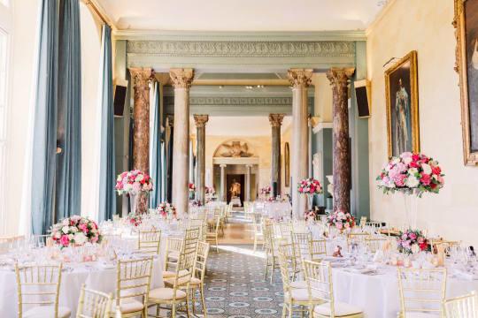 Woburn Abbey Weddings Mr and Mrs Loggia reception setting