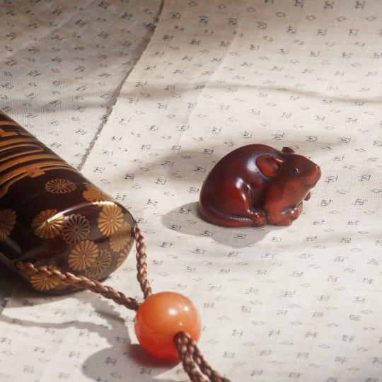 NETSUKE 1800  1840  Wood and horn  Japan