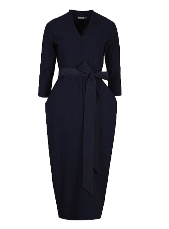 Olivia May Les Filles Dailleurs Black Jersey Tulip Dress