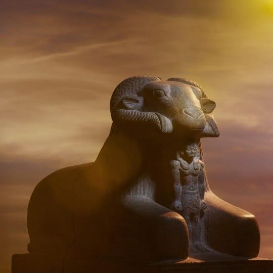 RAM OF AMUN RE About 680 BC  Granite gneiss  Kawa  Sudan