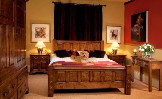 The Real Wood Furniture Company Bed and wardrobe