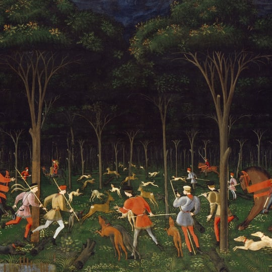 THE HUNT IN THE FOREST  Paolo di Dono  called Uccello  c  1465 1470