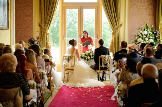 Stoke Park wedding ceremony