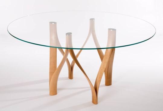 Twist Leg Glass Dining Table 2 ebsz8s