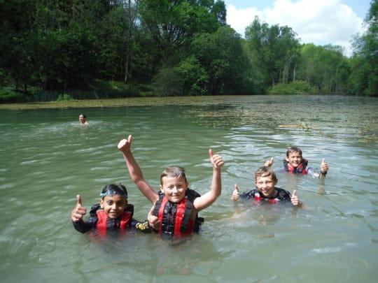 Cokethorpe School Kids in River