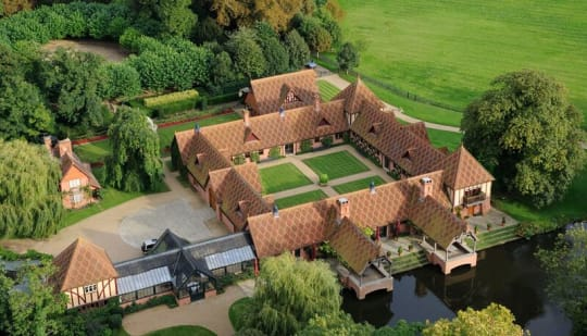 The Dairy at Waddesdon Manor Wedding Aerial View