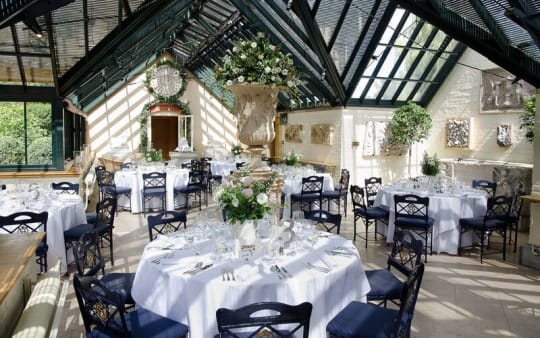 The Dairy at Waddesdon Manor Wedding Tables Indoor