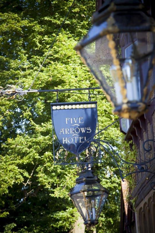 Five Arrows Hotel Weddings Sign