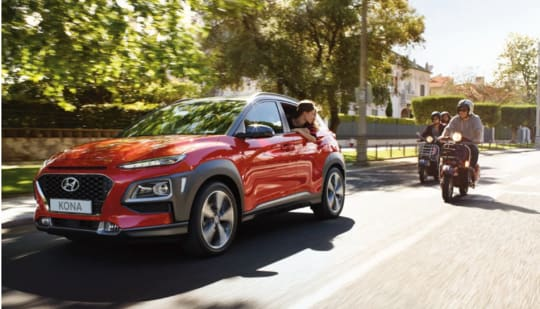 New Hyundai Kona Range In Red
