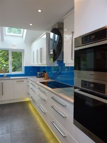 Woodwise Kitchens White and Blue