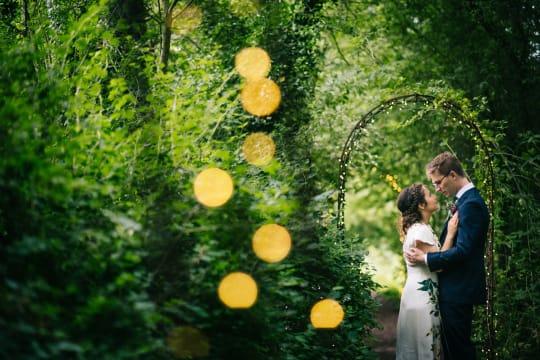 The Perch Free House Weddings Couple in Secret Garden
