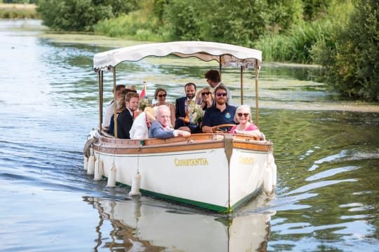 The Perch Free House Weddings Champage Boat Arrival