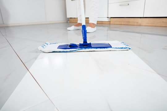LSA Cleaning Services Mopping Kitchen Floor