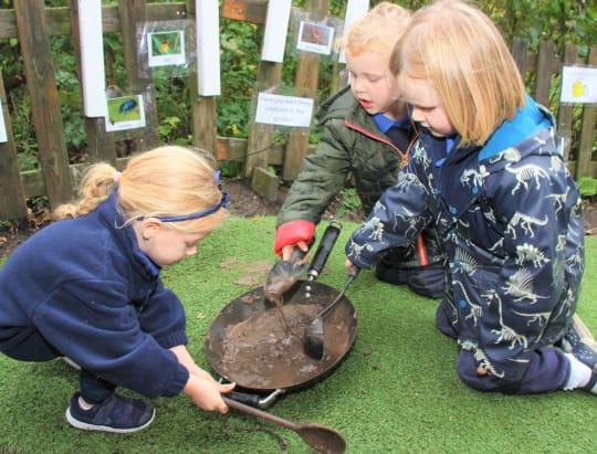 St Teresas School Reception and Pre School outdoor play