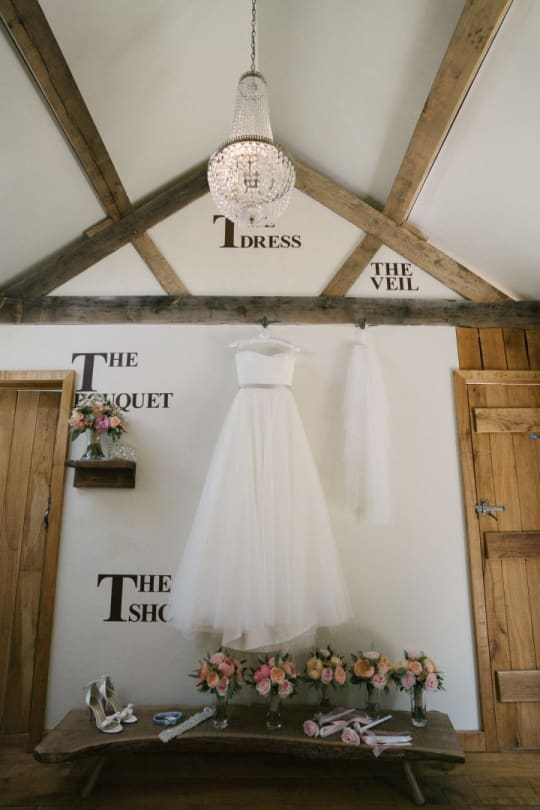 Tythe Barn Wedding Bridal Preparation area The Nook