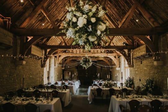 Tythe Barn Indoor Wedding Venue Decor