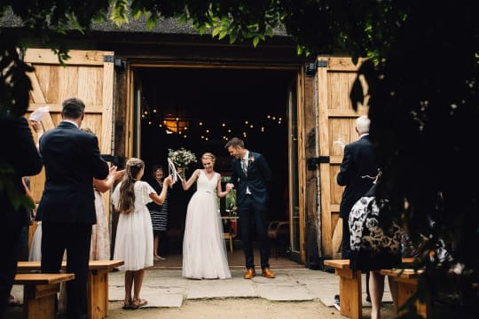 Tythe Barn Wedding Married Celebration
