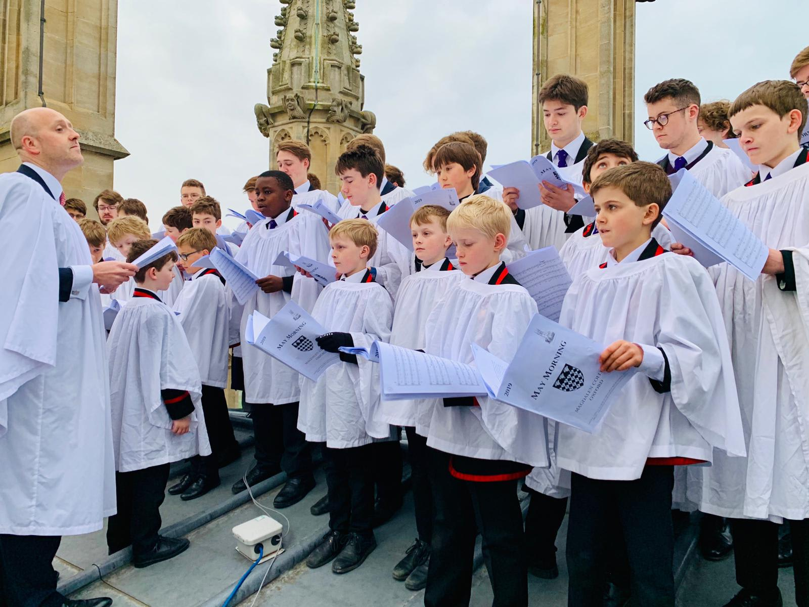 Choir on tower May Morning 19 ywcmse