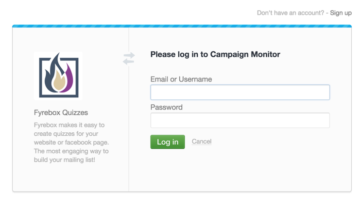 Campaign Monitor Authorisation