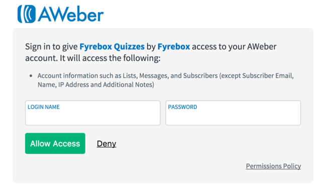 aweber authorisation