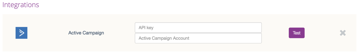 Active Campaign Account