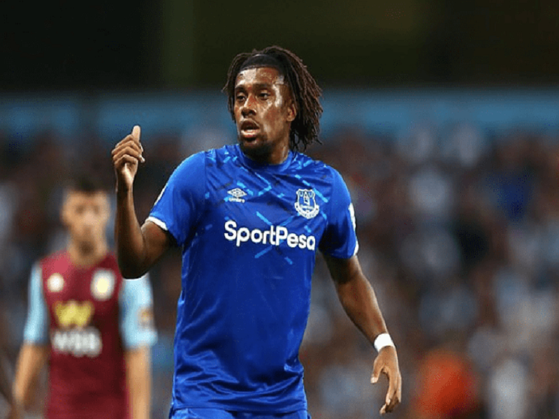 Alex Iwobi loses on Toffees' debut