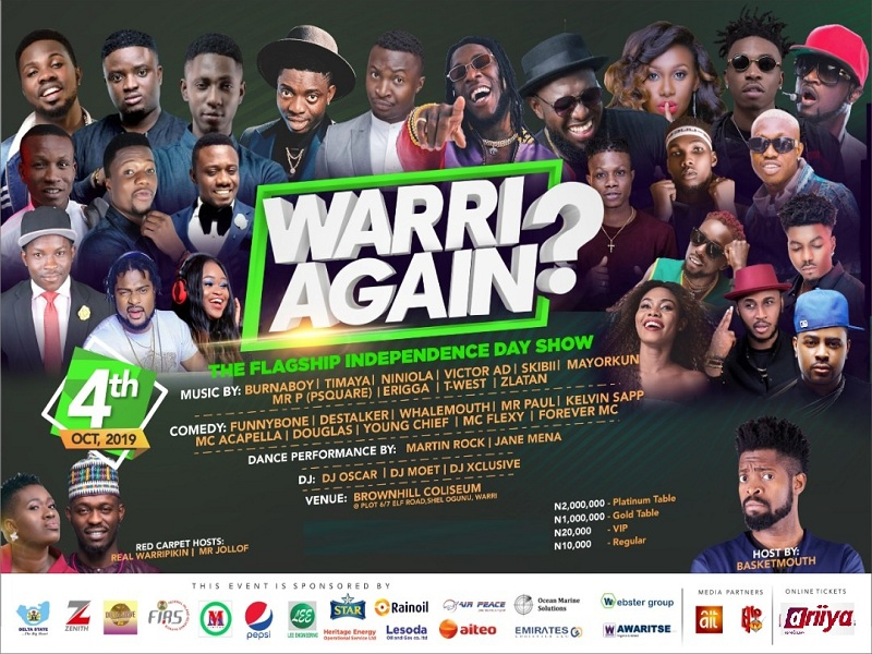 WARRI AGAIN Holds o