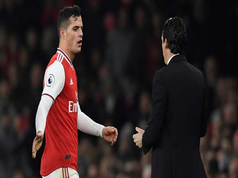 Emery strips Xhaka of Arsenal captaincy names Aubameyang as the new captain