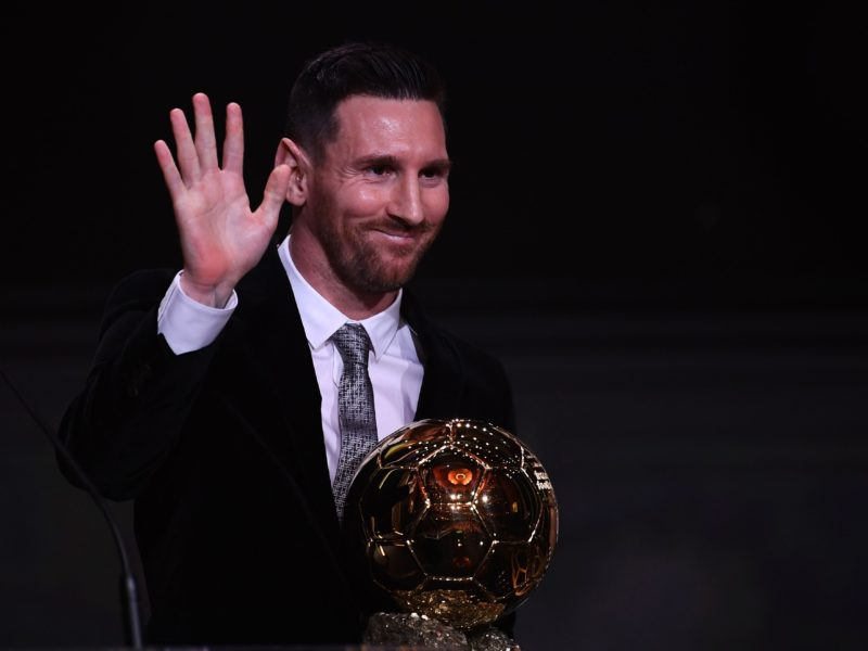 Barcelona forward, Lionel Messi wins Ballon d'Or for record sixth time